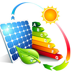 Energy efficiency of the photovoltaic - ilustration